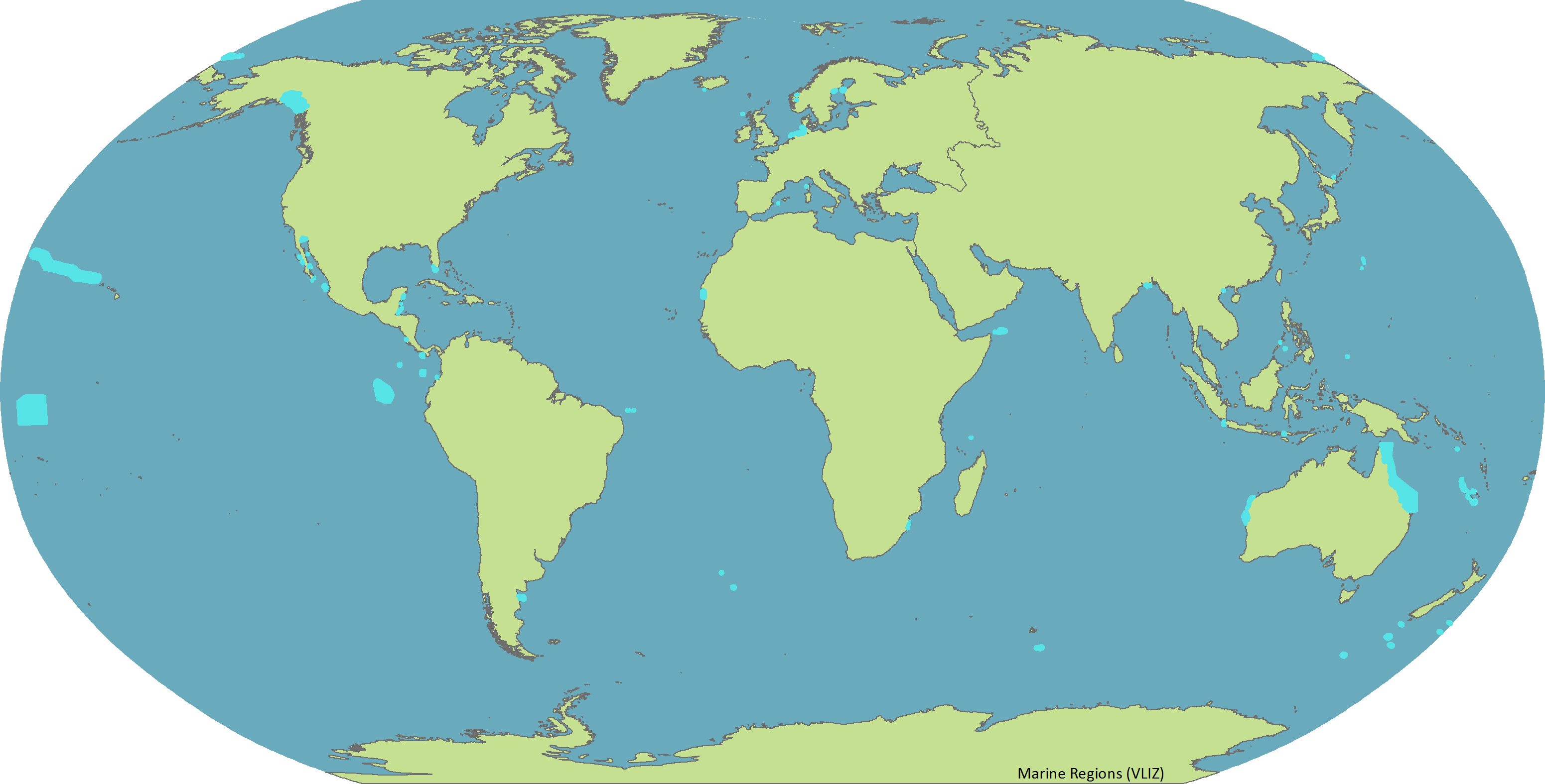Biome map with country names